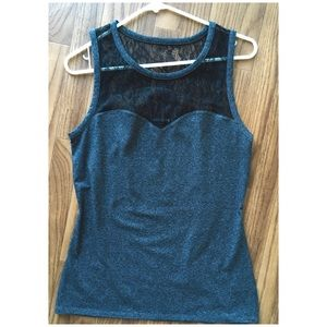 Express | Lace Sweetheart Neck Top | NWOT | size M